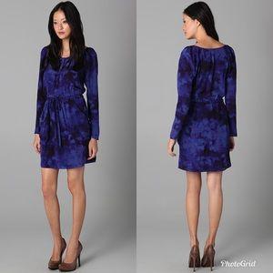 Rebecca Taylor Purple Tie Dye Shirtdress